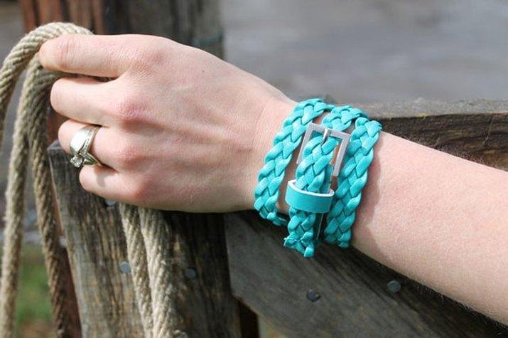 belts into bracelets