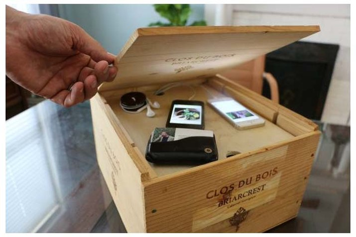 Wine crate charging system