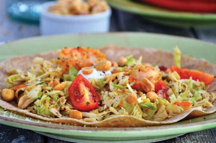 Gluten Free Grilled Shrimp Fajitas