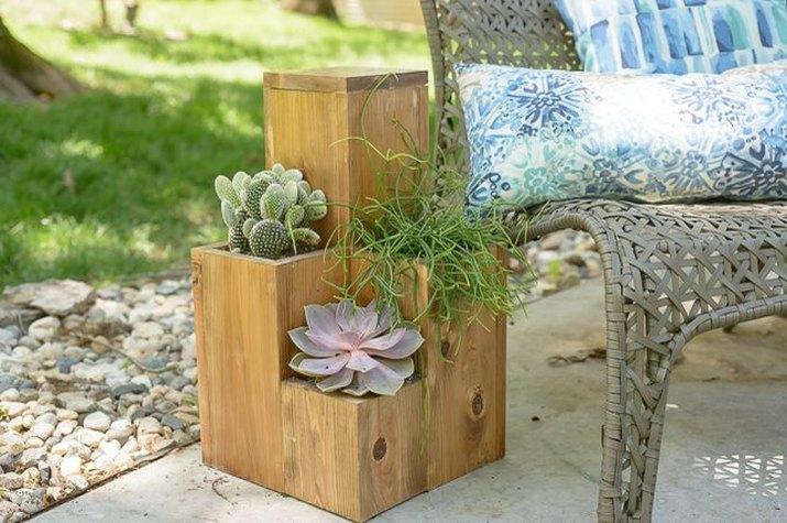 DIY Side Table Planter
