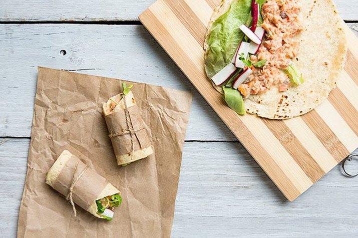 Cedar Plank Grilled Salmon & Salmon Wraps