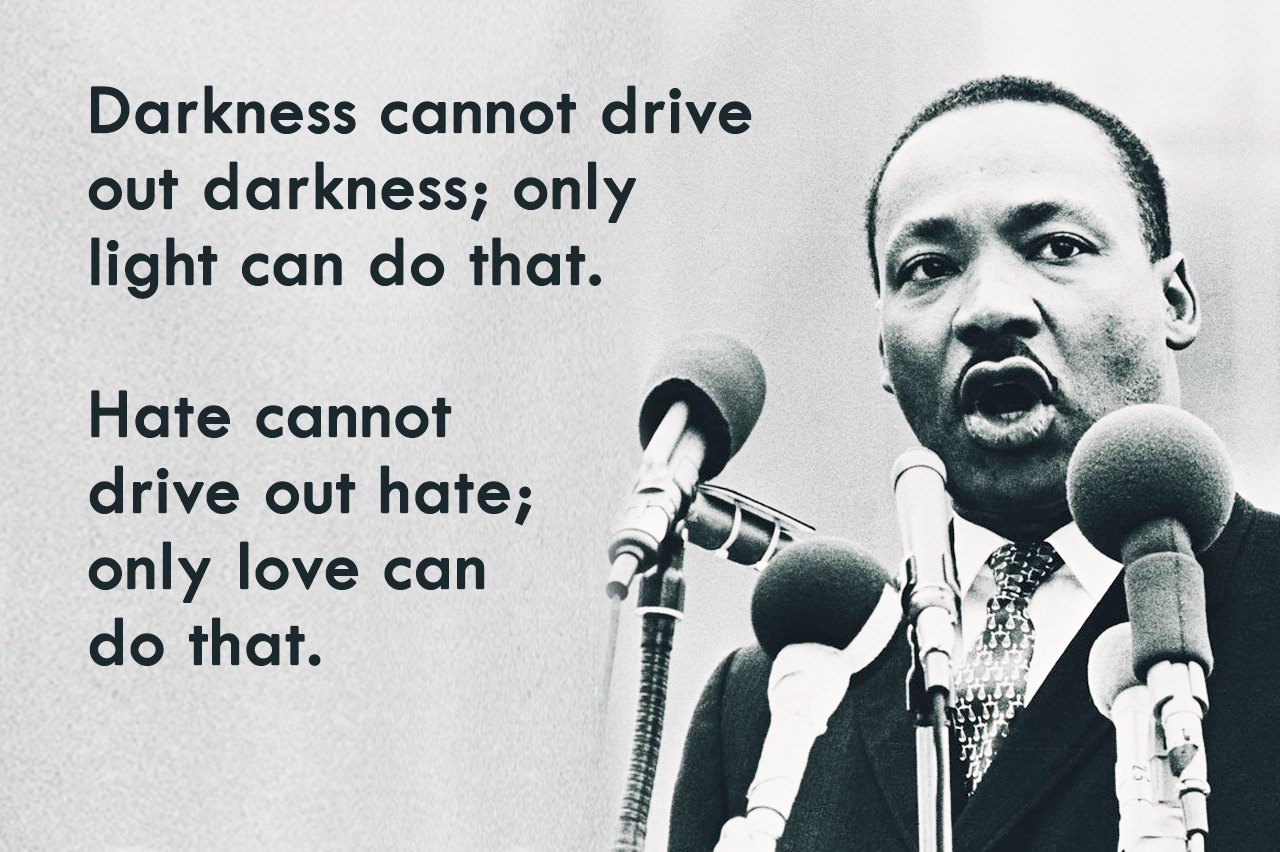 famous quote by MLK Jr.